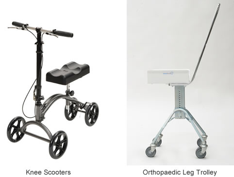 Knee Scooter and Leg Trolley